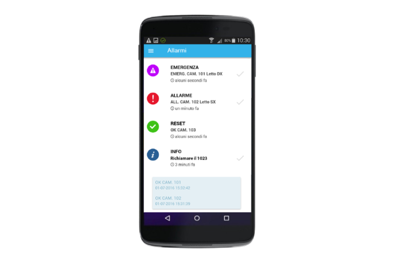 TALK APP, Allarmi WI-FI, Smartphone